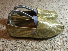 Toms Women's Gold Metallic Shoes Size 9 Slip-on Kd6