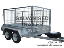 8x5 Tandem Trailer Galvanised Heavy Duty With 300mm Sides & 1000mm Mesh Cage
