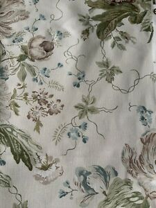 Sanderson Alsace Beige And Blue Furnishing Fabric  2.5m Piece