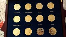 reduced Tribute to Americas Most Beautiful GOLD Coins 12 piece; FAB wood display