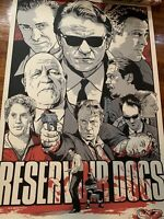 """Reservoir Dogs Tarantino Poster 24""""x36"""" joshua budich X/150 Signed And numbered"""