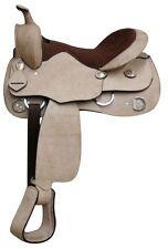 """Economy Rough Out Leather Training Saddle. * Full QH Bars*  16"""""""