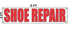 Shoe Repair Banner Sign 2x8 for Business Shop Building Store Front