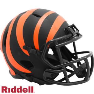 Cincinnati Bengals NFL Eclipse Alternate Mini Helmet Comes In Riddell Case