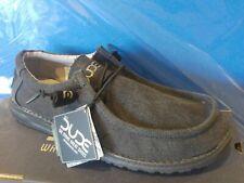 Scarpe uomo sneakers HEY DUDE Wally jet black washed