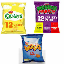 Walkers Snacks 60 Box 24x Wotsits 24x Quavers 12x Monster Munch Crisps
