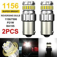 2X 1156 BA15S 7506 LED Backup Reverse Lamp Light Super Bright White 6500K Bulbs