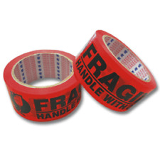 36 48mm Fragile Packaging Tapes 45 Micron Red Packaging Tape with FRAGILE