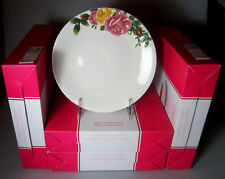 "Royal Albert Country Rose Majolica Tidbit Plates 7 1/4"" (SET OF 4) NIB"