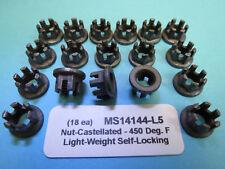 5/16-24 Lightweight Self-Locking Castellated MS14144-L5 Nuts Aircraft 450 Deg, F