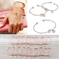 Korean Style Women Simple Knot Bracelet Bridesmaid Opening Bangle Jewelry Gift