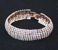 Fashion Hot Charm Women Crystal Rhinestone Cuff Bracelet Bangle Jewelry Gift
