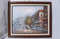Caroline Burnett Impressionist Parisian Street Signed Painting Oil on Canvas