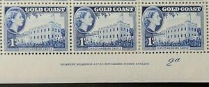 GOLD COAST 1952-54 SG154 QEII 1d. CHRISTIANBORG CASTLE  -  MNH