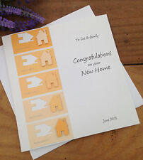 "Handmade Personalised Card Congratulations New Home ""Colour Swatch"""