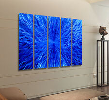 Extra Large Blue Metal Wall Art, Modern Abstract Wall Sculpture Decor, Jon Allen
