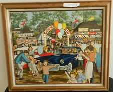 """RARE H. Hargrove County Fair Serigraph Signed Framed """"LOW"""" #2 of 1500"""