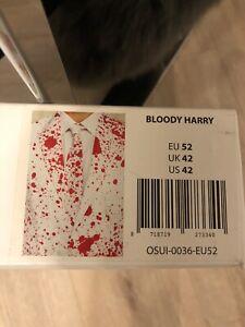 Anzug Horror Blut weiß rot Karneval Kostüm Gr. 52  Neu