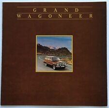 1984 Jeep Grand Wagoneer 12-page BIG Original Car Sales Brochure Catalog