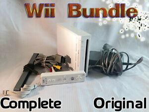Original Nintendo Wii Console Bundle - Complete - WiiMote, Nunchuck, All Leads..