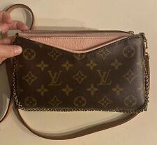 Louis Vuitton Monogram Pink Pallas Clutch Crossbody Bag