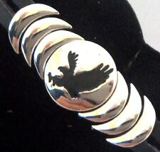 "Epic Spirit Bracelet Wheeler Eagle  8.5 "" Leather & Pewter Clasp Magnetic wcb767"