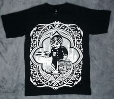 OBEY Rock the Casbah Posse T Shirt Size Small Black / White Made in USA