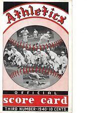 1940 Philadelphia A's-Red Sox Program Sox Nip Athletics NICE!!