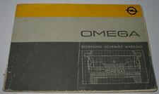 Betriebsanleitung Opel Omega A LS / GL / GLS Handbuch Bedienungsanleitung 1986!