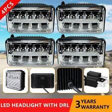 4pc 4x6'' LED Headlights For Kenworth T400 T600 T800 W900B W900L Classic 120/132