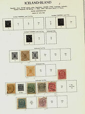 Iceland mint and used collection on pages  catalog over $1,400.00       APL0516