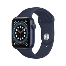 Apple Watch Series 6 (GPS) Aluminium 44mm Blau Sportarmband dunkelmarine