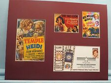 Shirley Temple - Heidi and Wee Willie Winkie & First Day Cover of her own stamp