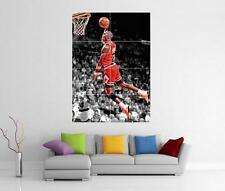 Michael Jordan Chicago Bulls Gigante Pared Arte Imagen Foto Afiche