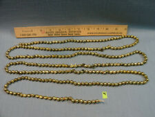 Vintage Mercury Glass Bead Garland, Gold, 7 1/2 Feet (90 Inches) Lot 4