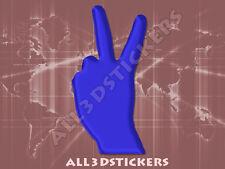 Pegatina Simbolo Victoria 3D Relieve - Color Azul