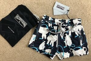 New w Tags & Bag Authentic VILEBREQUIN Swim Trunks MONKEYS 2 YEARS Kids Unisex