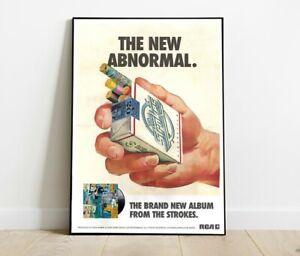 A4 The Strokes The New Abnormal Cigarette Print / Poster Wall Art Decor