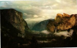 Vintage Postcard - Yosemite Valley From Wawona Tunnel Storm Un-Posted #8142