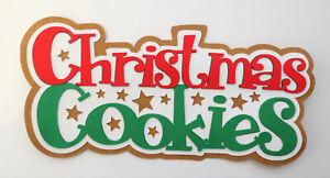 Christmas Cookies Title Paper Piecing Die Cut Scrapbook Embellishement