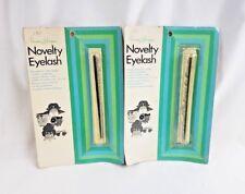 Lot 2 Vintage NOS Novelty Eyelash Narco Strips Lashes Toys Dolls Masks Crafts