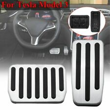 2x/Set Gas Accelerator Brake Performance Foot Pedal Pad Cover For Tesla Model 3