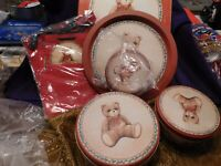 Christmas 3 Tins 1 Platter 3 Gift Bags Set House of Lloyd Toy Box Teddy Bear NEW