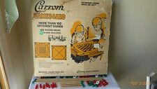 Vintage Merdel Carrom Game Board 1961 Pool Cues Sticks Game Pieces Instructions