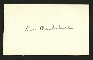 Ken Mendenhall signed autograph 3x5 card Colts Oklahoma Football Player F243