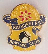Bathurst RSL 25th Anniversary Bowling Club Badge Pin Vintage Lawn Bowls (L31)