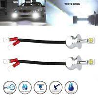 2x H3 80W Super Bright CREE LED 6000K White Fog Tail DRL Car Head Light Bulbs