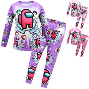 Mädchen Schlafanzug Cartoons Drucken Nachtwäsche Kinder Bekleidung Pyjama Set