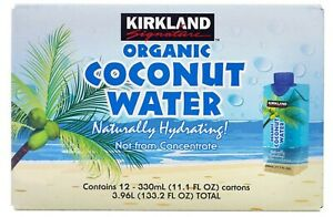 Kirkland Signature Organic Coconut Water, Pack of 12 x 330ml
