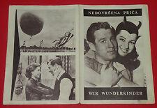 WIR WUNDERKINDER '58 GERMAN HOFFMANN KOCZIAN FELMY FRYDTBERG  EXYU MOVIE PROGRAM